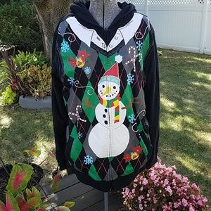 Quicksilver Reversible Ugly Christmas Sweater L/XL